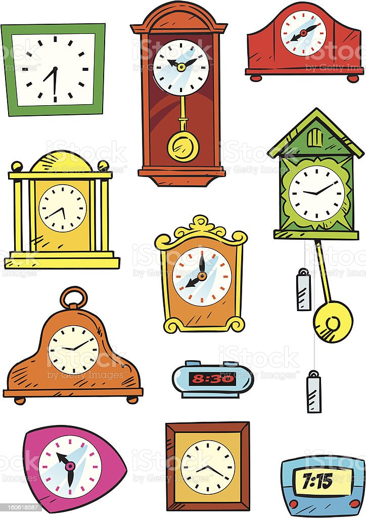 variety of hours royalty-free stock vector art