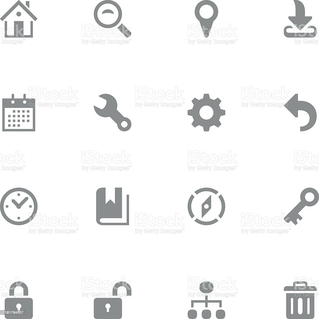 Variety of web and technology icons royalty-free stock vector art