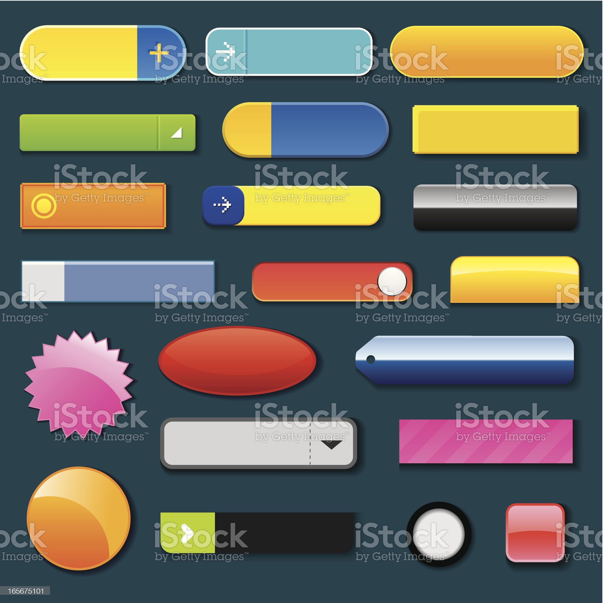 Variety of web button royalty-free stock vector art