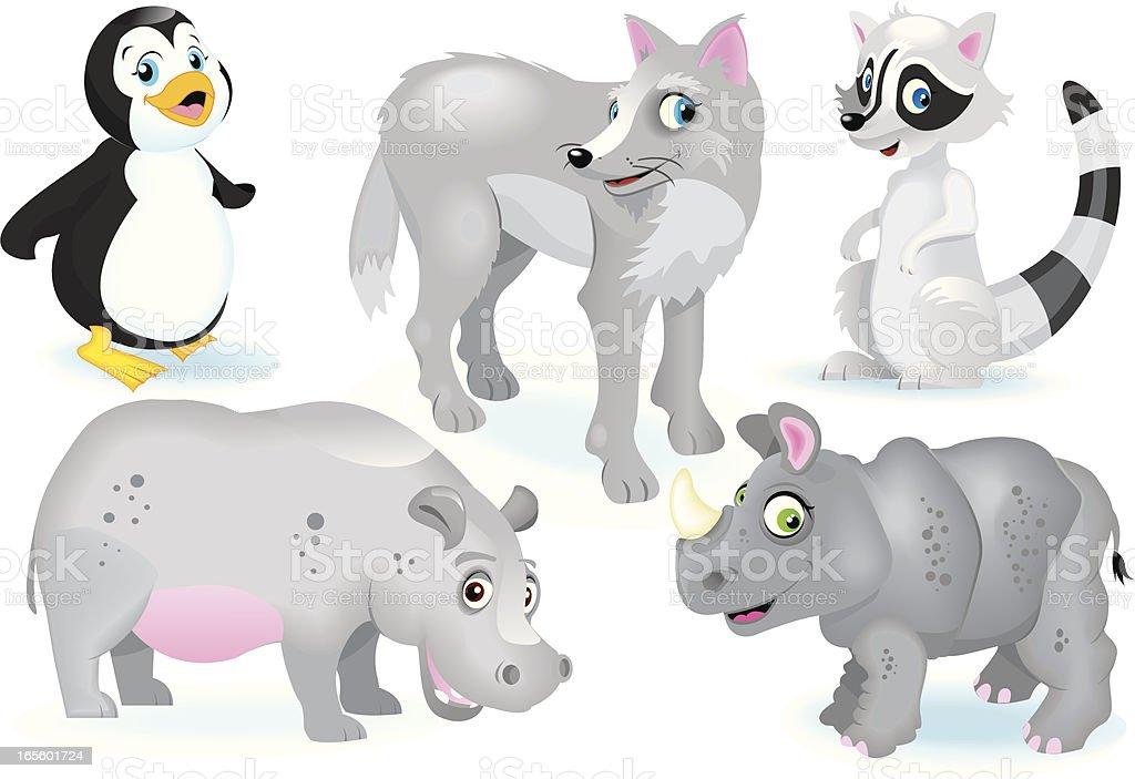Various Animals royalty-free stock vector art