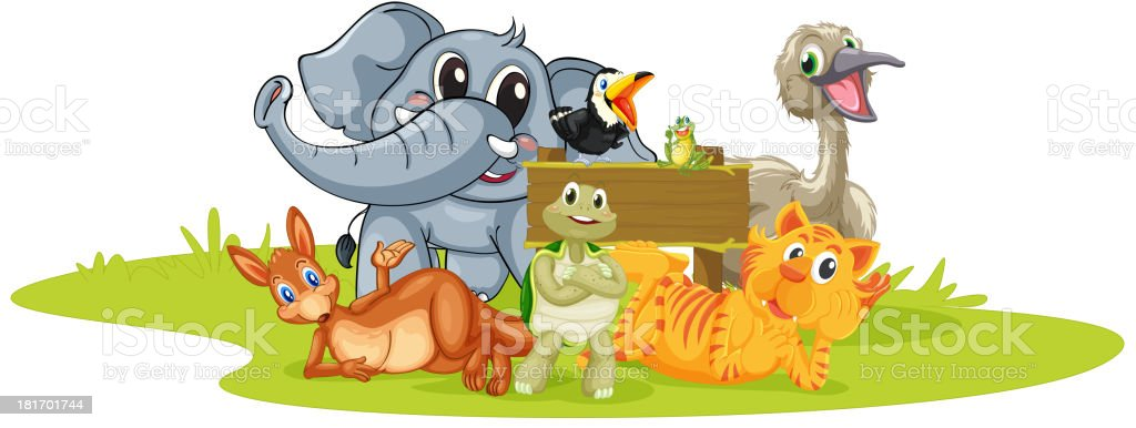 Various animals royalty-free stock vector art