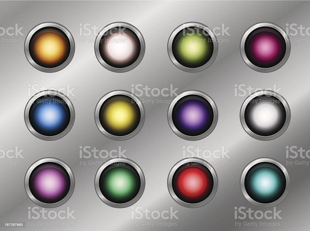 Various button vector art illustration
