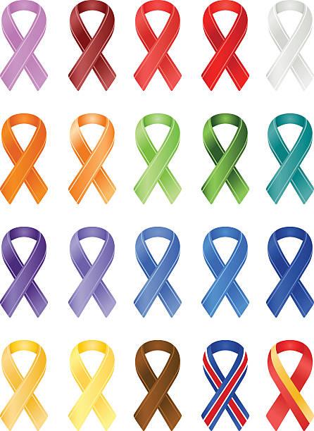 Clip Art Of A Symbol For Cancer Awareness Clip Art Vector Images