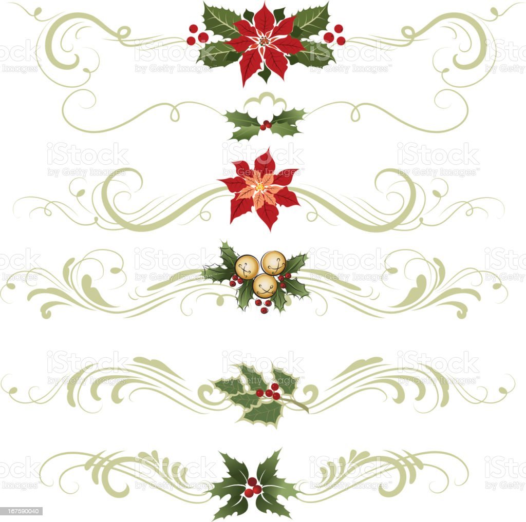 Various different ornaments Christmas decorations vector art illustration