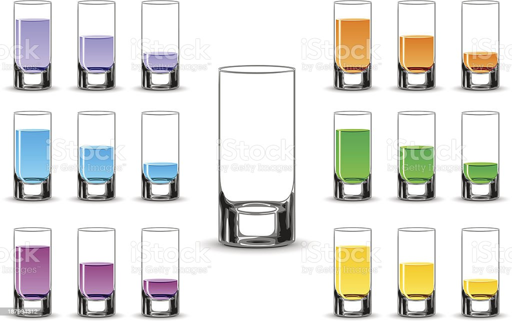 Various drinks royalty-free stock vector art