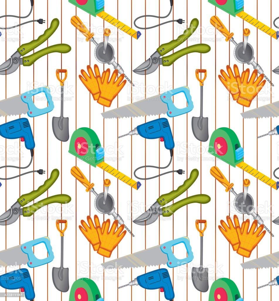 Various equipments vector art illustration