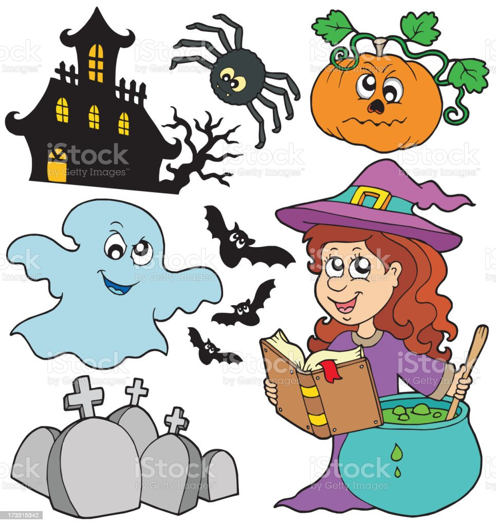 Various Halloween images 5 royalty-free stock vector art