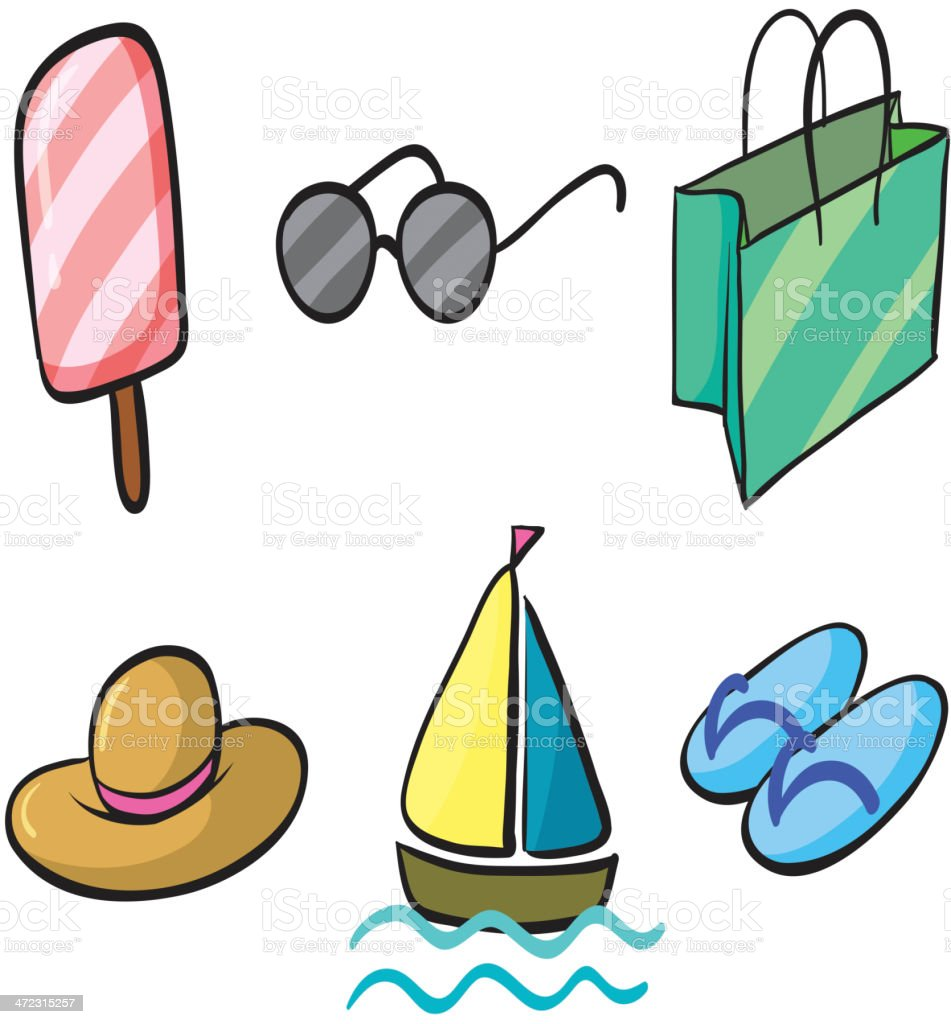 Various holiday objects royalty-free stock vector art