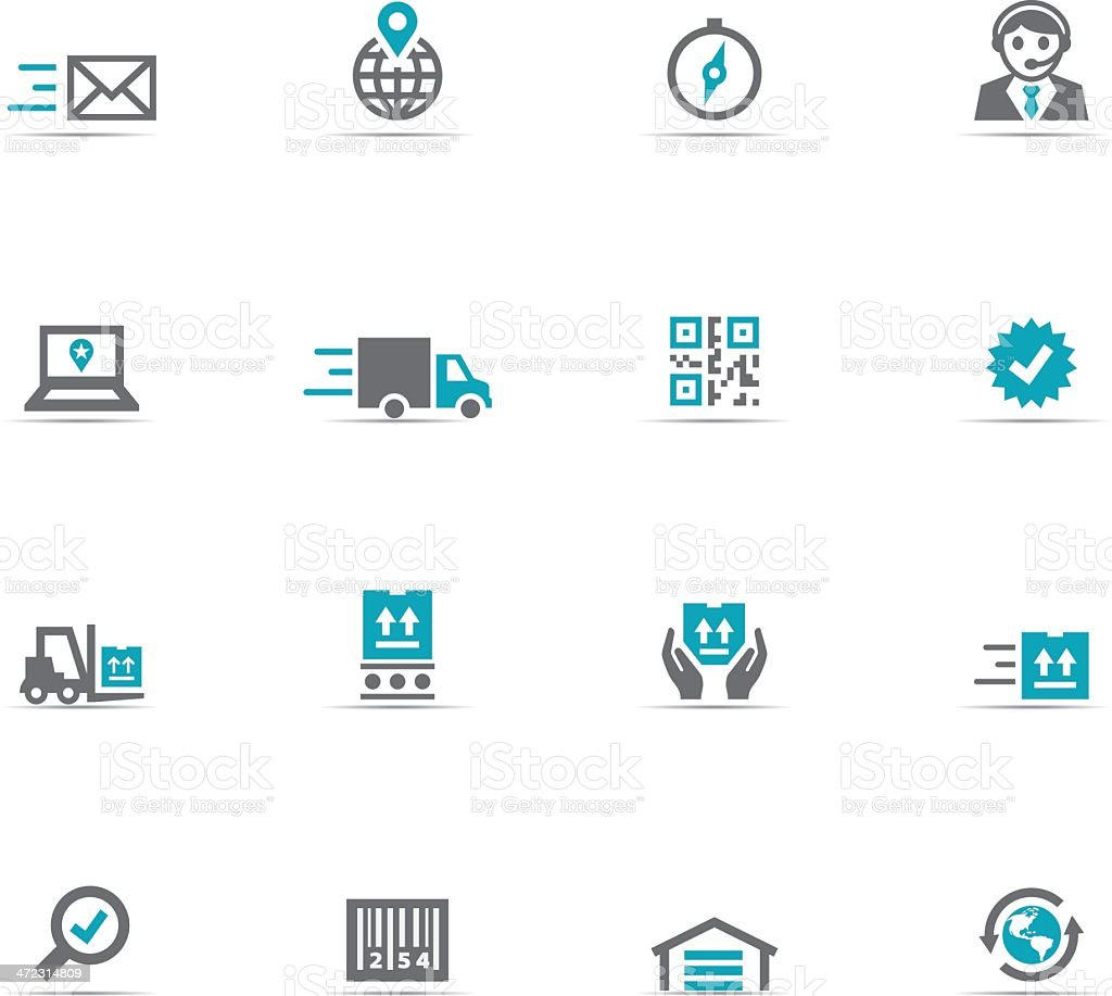 Various icons about logistics on a white background vector art illustration