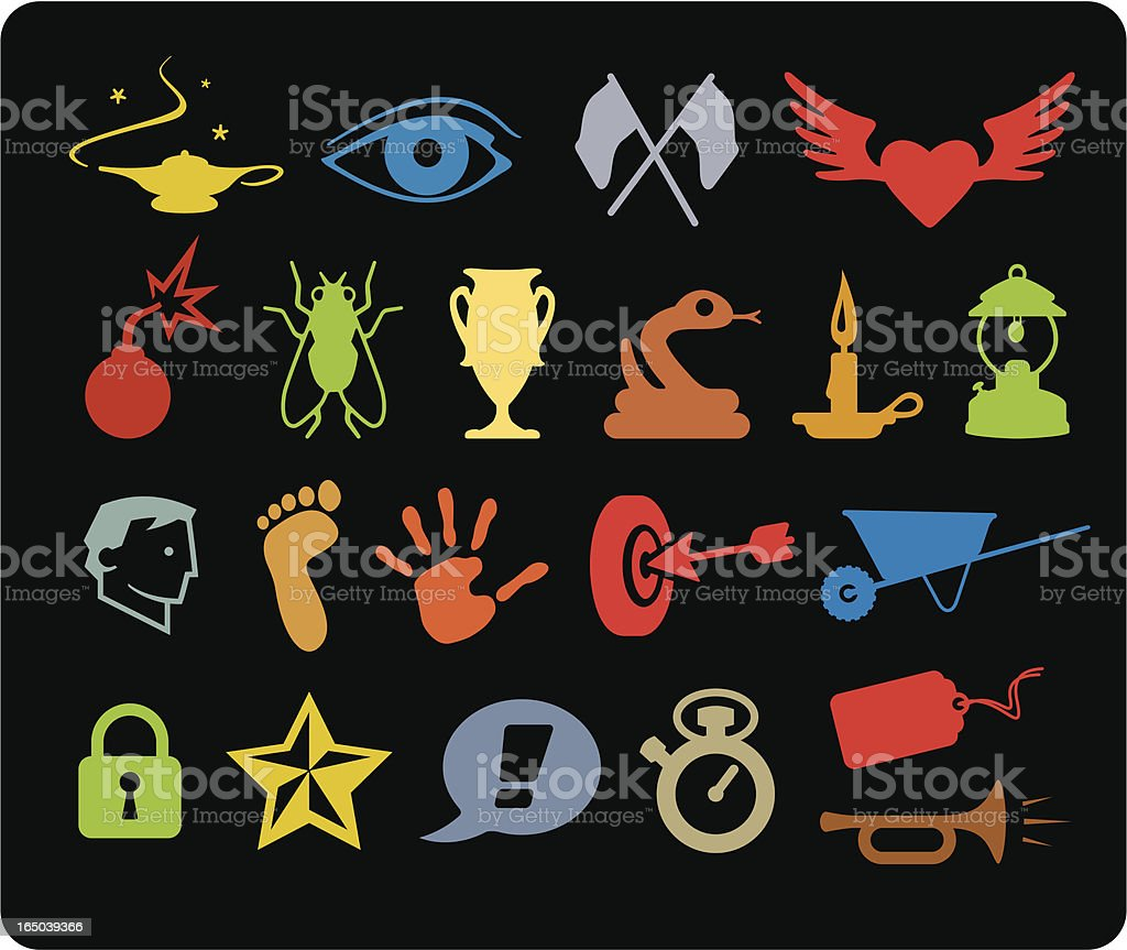 Various Icons II royalty-free stock vector art