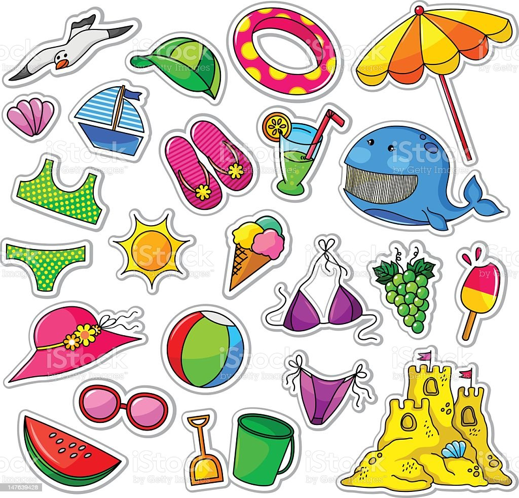 Various illustration of summer collections royalty-free stock vector art