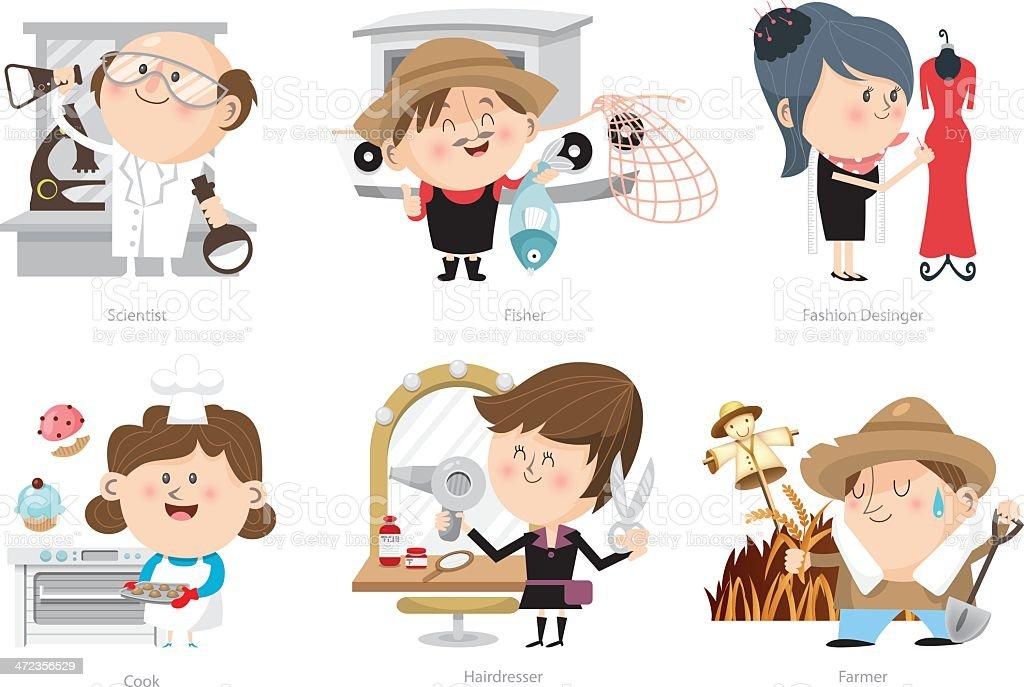 Various jobs 03 vector art illustration