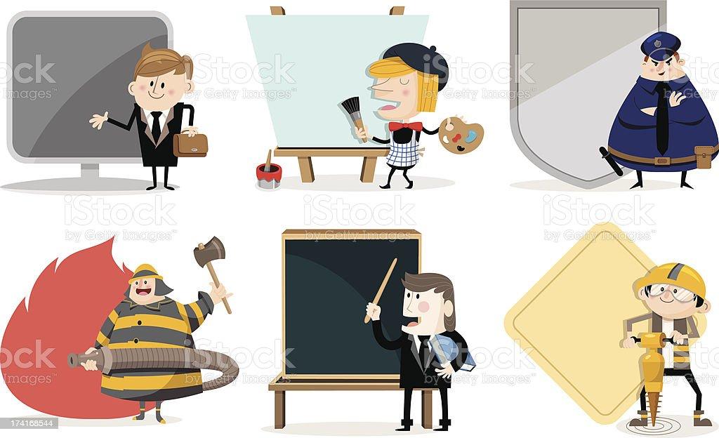 Various jobs vector art illustration