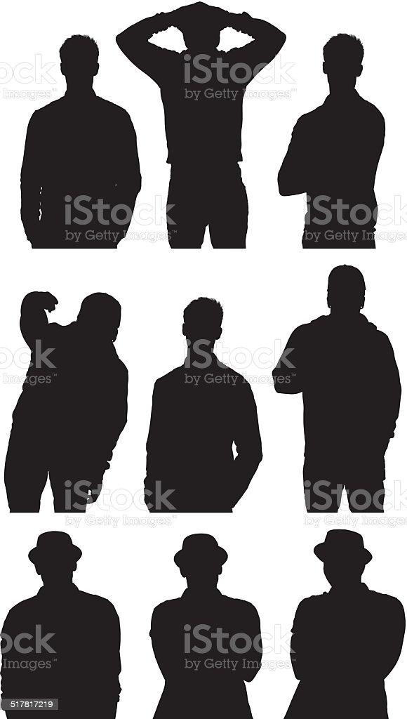 Various men vector art illustration