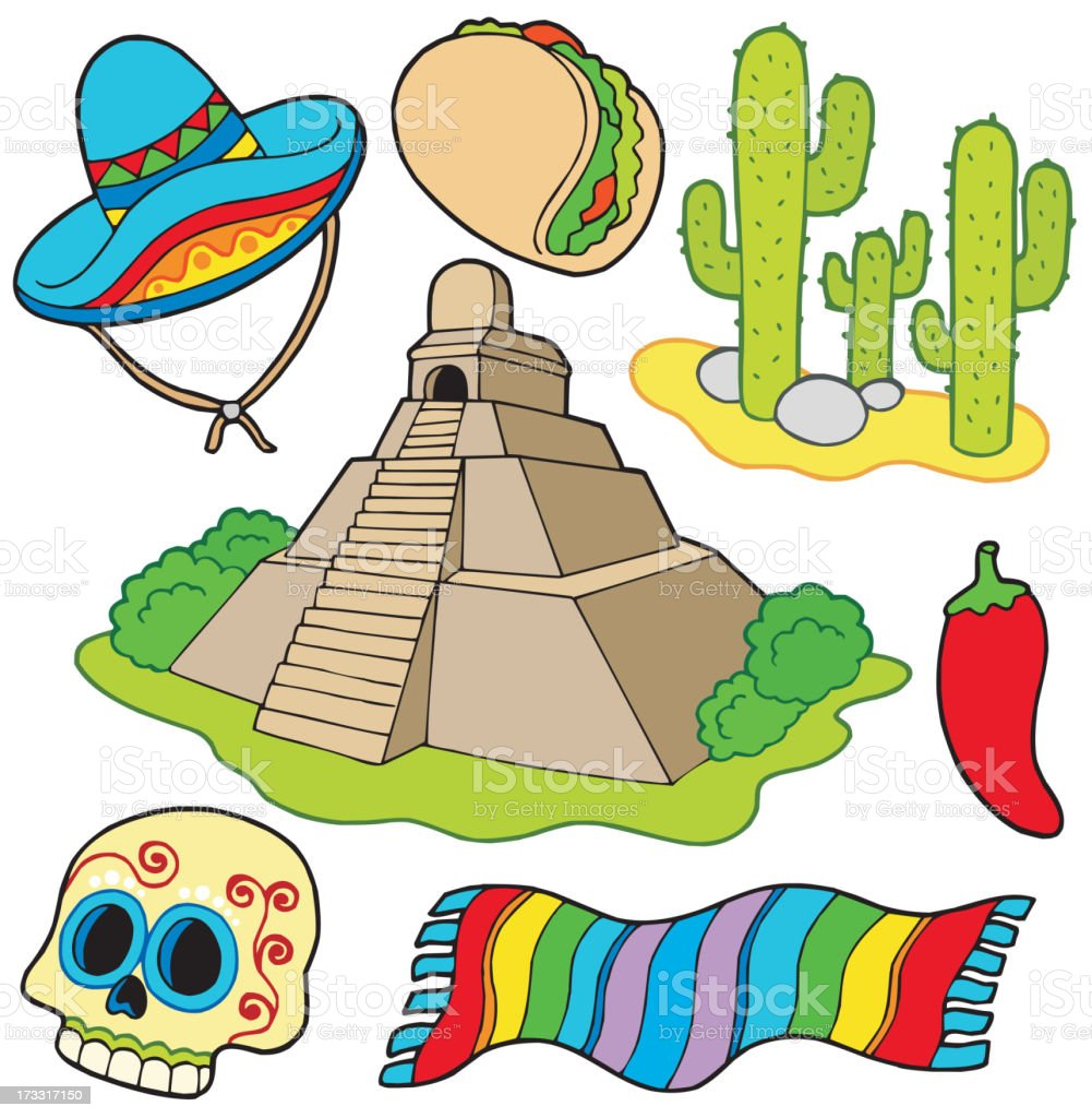 Various Mexican images royalty-free stock vector art