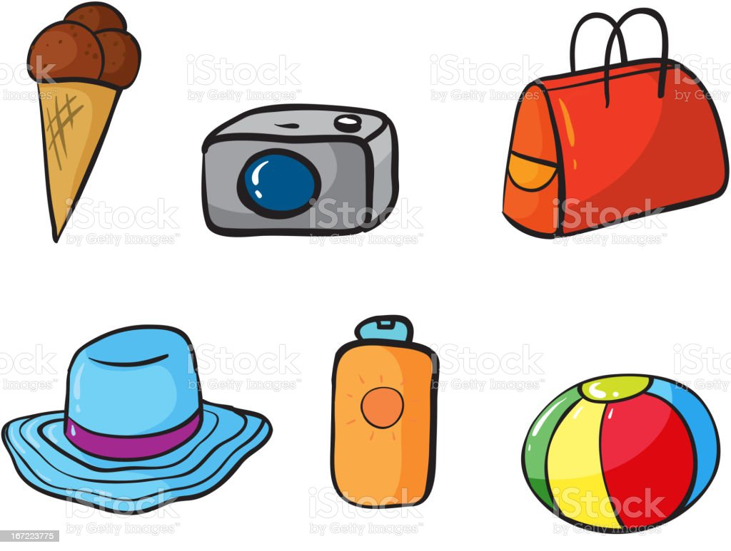 Various objects royalty-free stock vector art