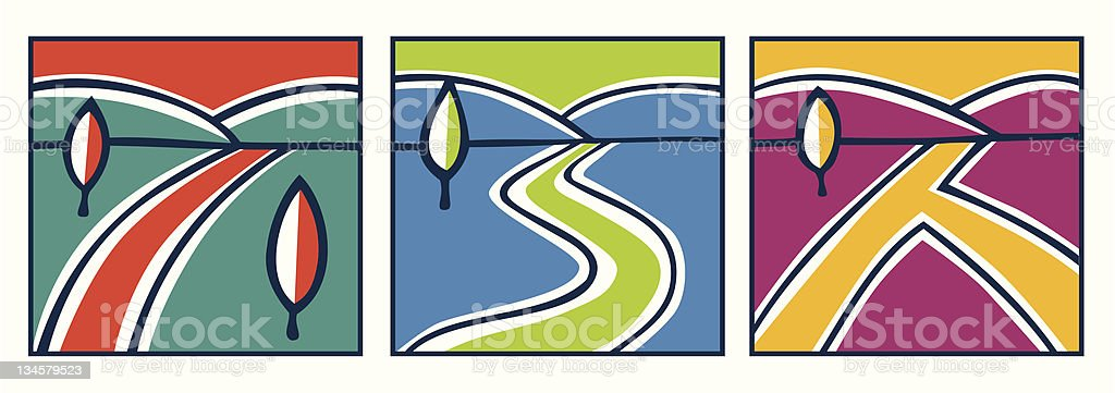 Various paths royalty-free stock vector art