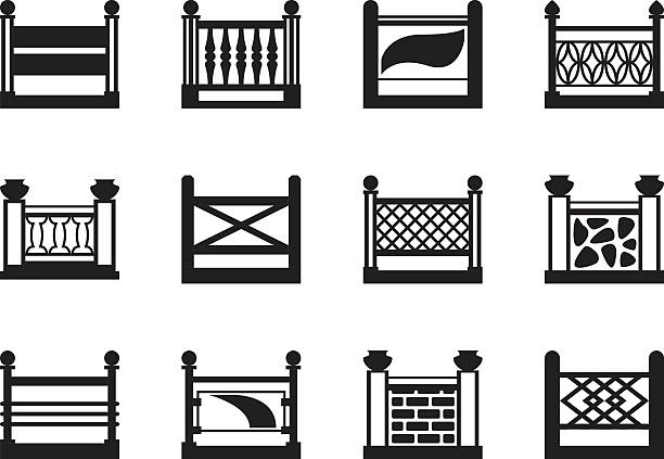 Balcony railing clip art vector images illustrations