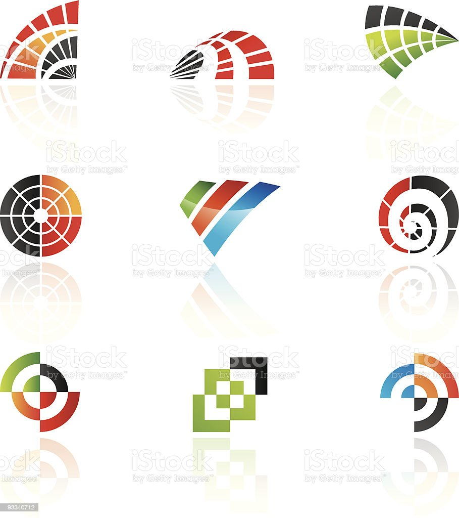 Various shapes and graphic design elements royalty-free stock vector art