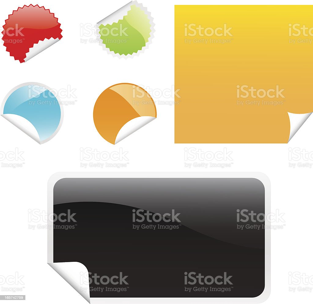 Various stickers royalty-free stock vector art