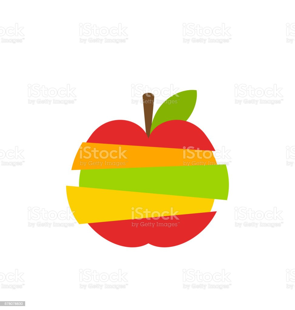 Various Type of Fruits Slices Stacked vector art illustration