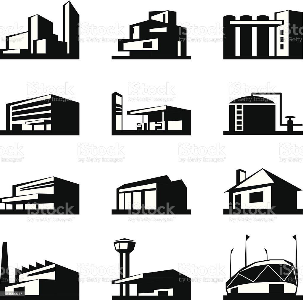 Various types of construction vector art illustration