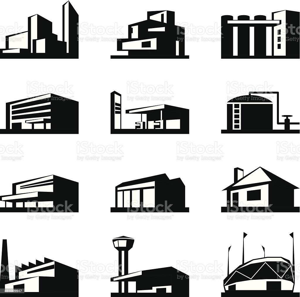 Various types of construction vector art illustration