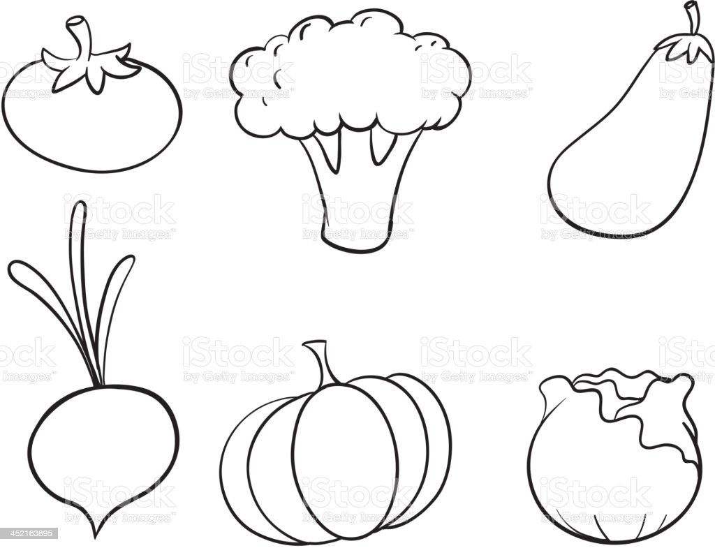 various vegetables royalty-free stock vector art