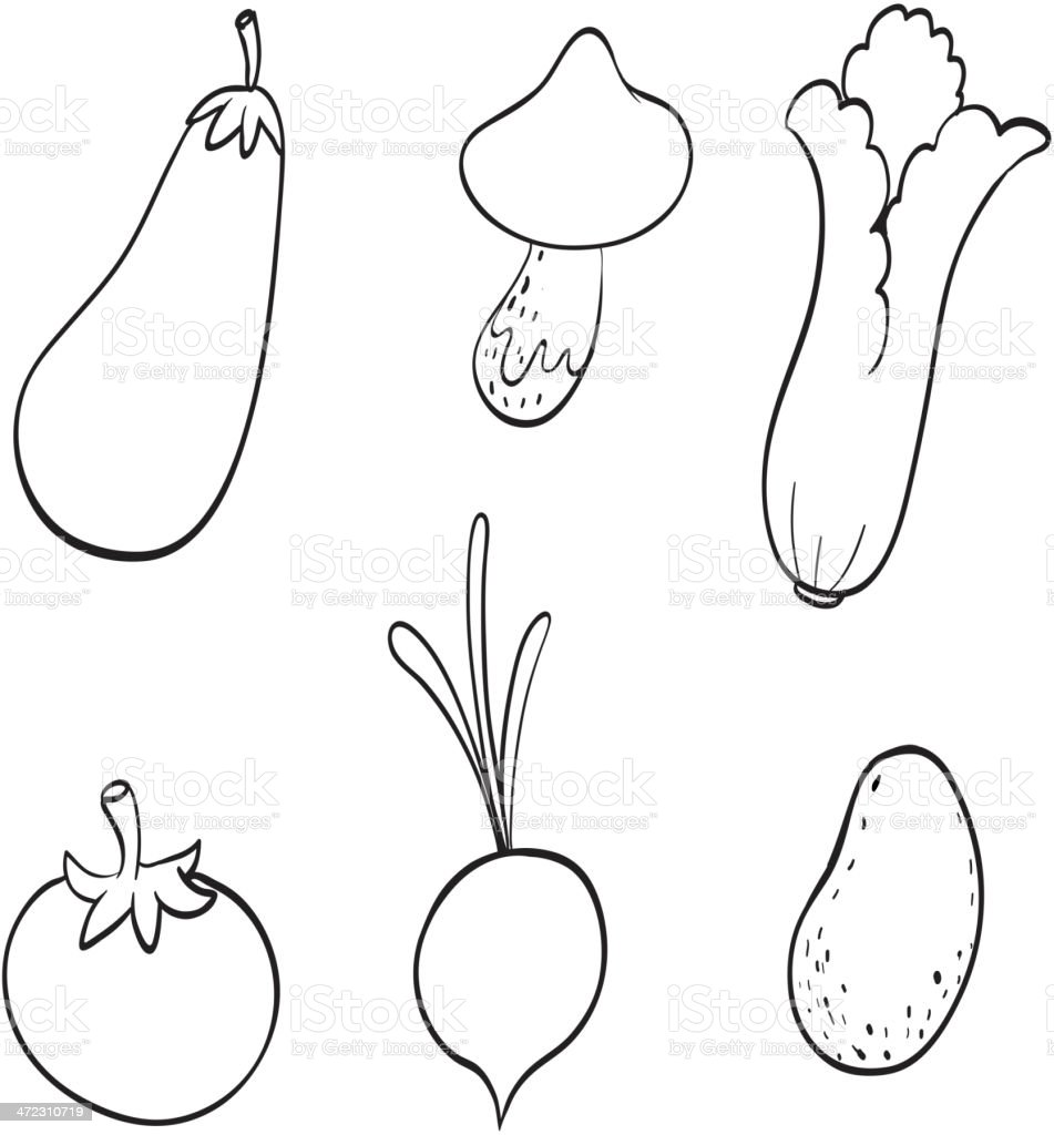 Various vegetables royalty-free stock vector art