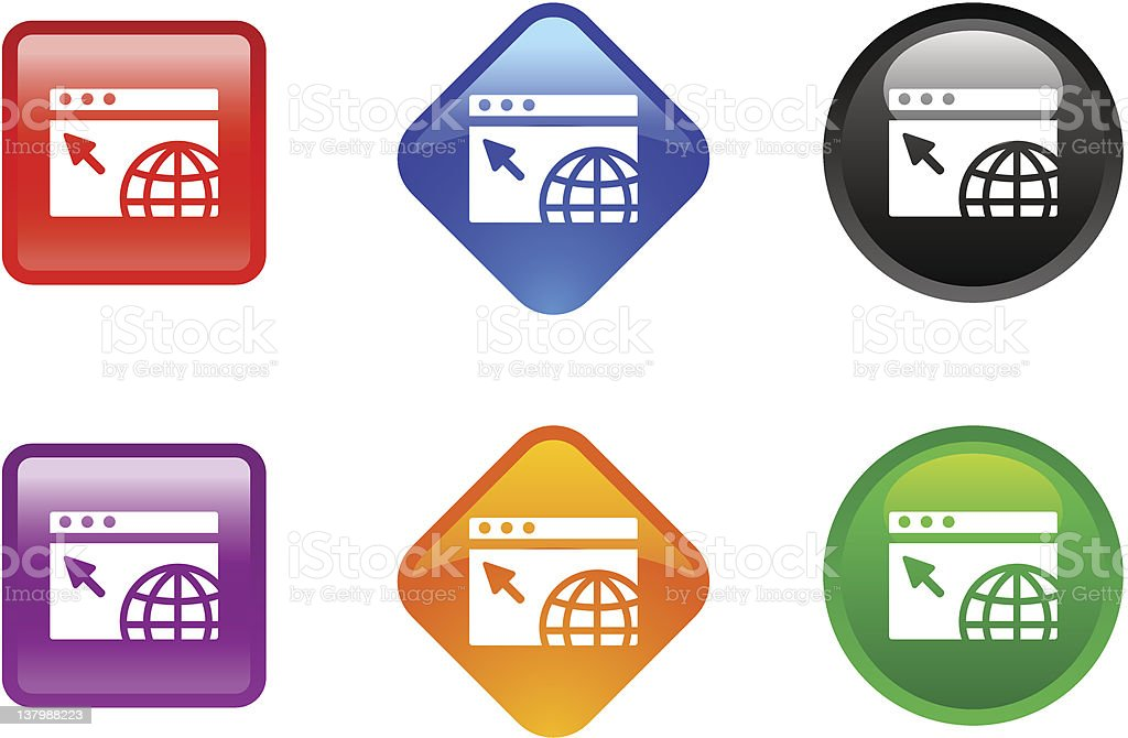 Various zee icons for an internet concept vector art illustration