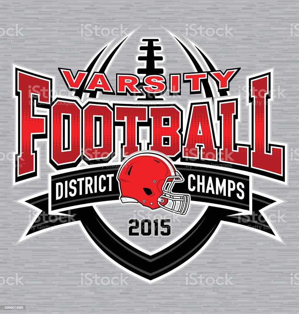 Varisty football t-shirt graphic vector art illustration