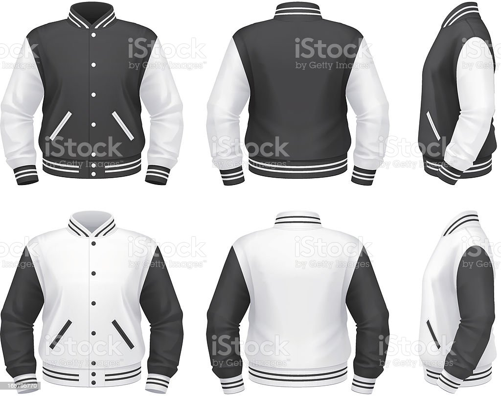 Varsity jacket vector art illustration