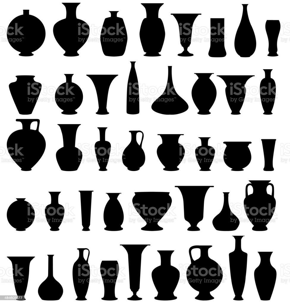 Vase set. vector art illustration