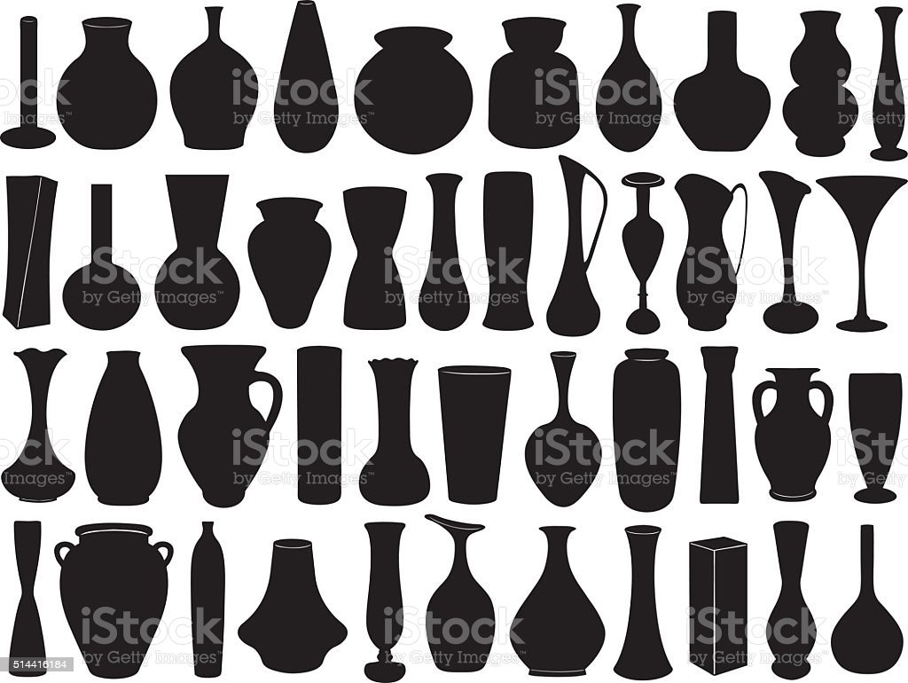 Vase set vector art illustration