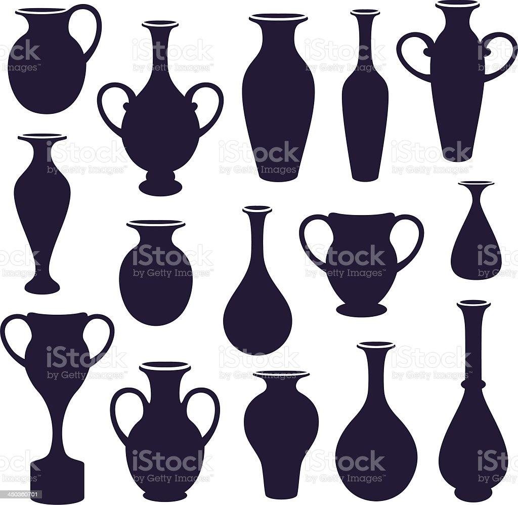 vases set vector art illustration