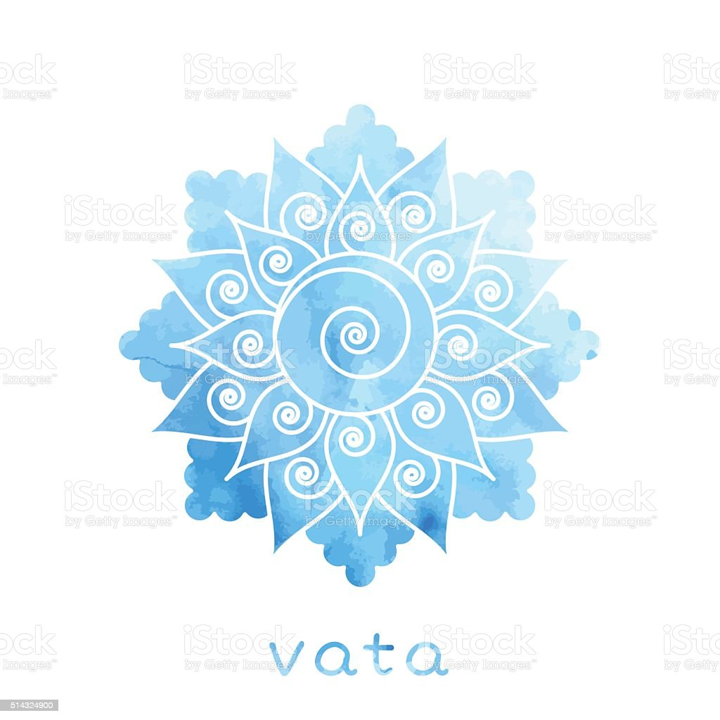 Vata dosha Ayurvedic body type vector art illustration