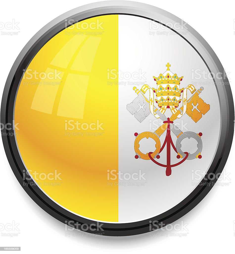 Vatican City - flag icon royalty-free stock vector art