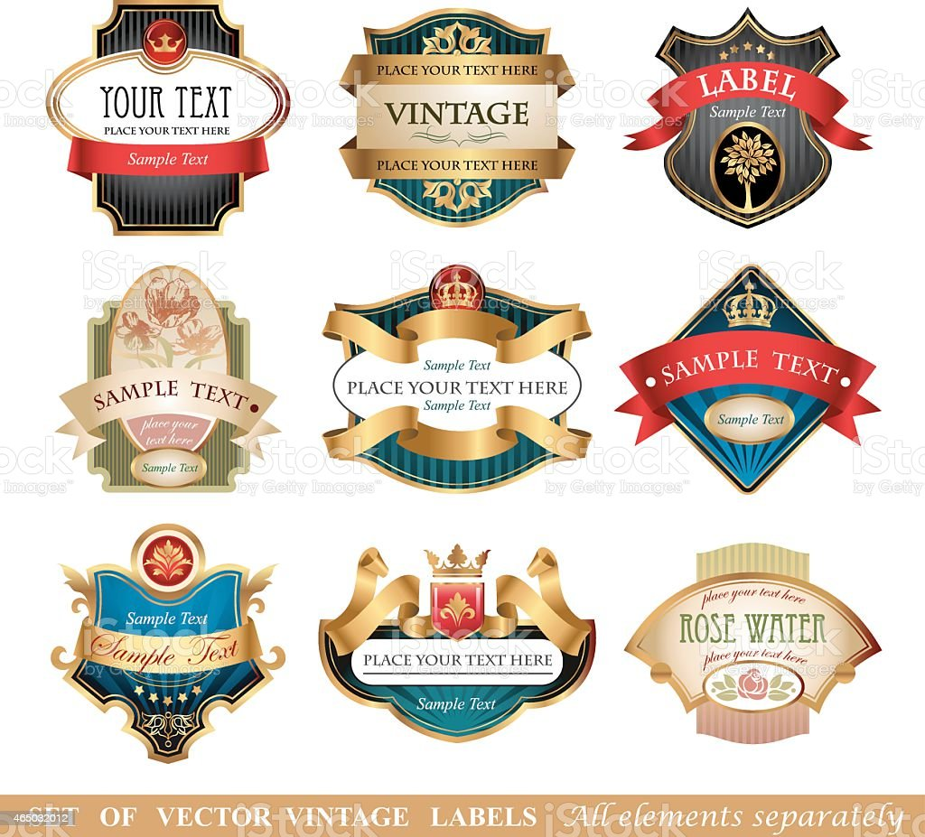 Vctor luxury labels vector art illustration