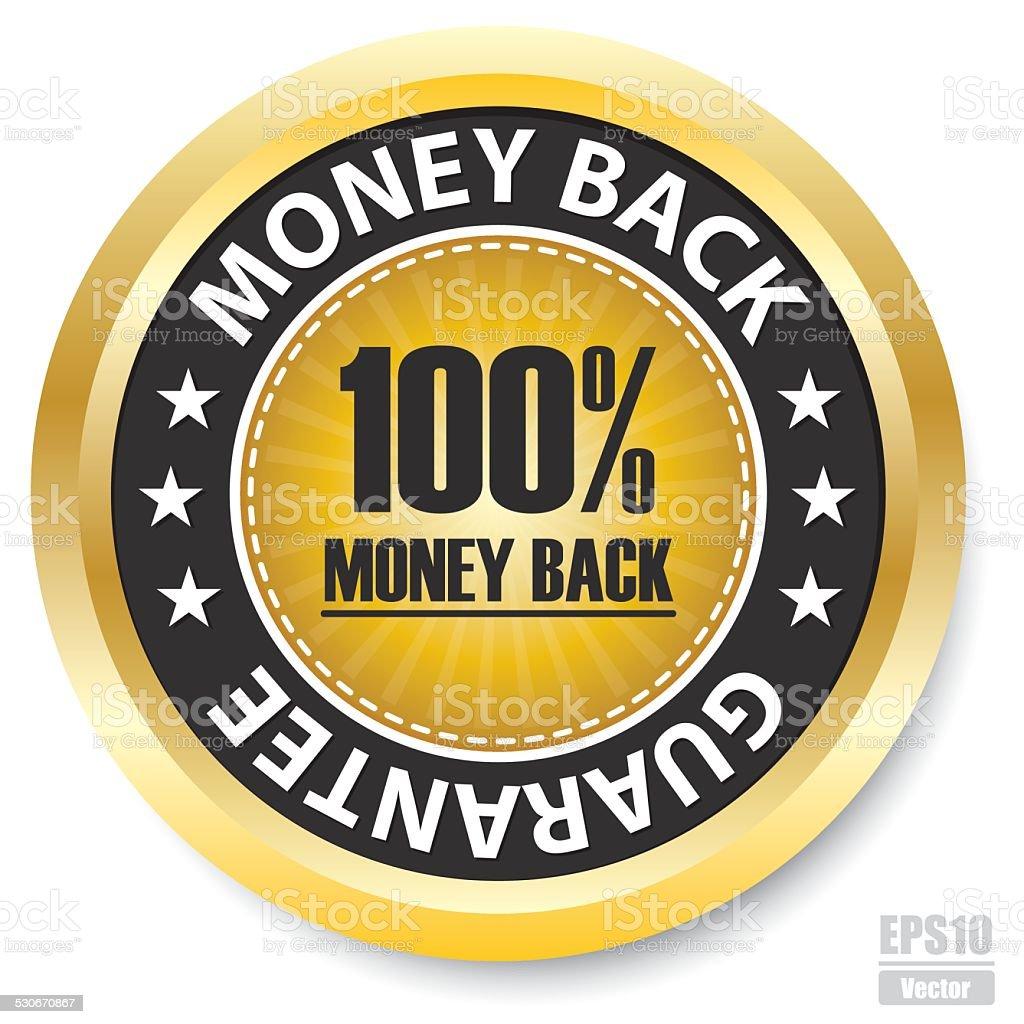 Vector : 100% Money back Guarantee Label.Eps10 royalty-free stock vector art