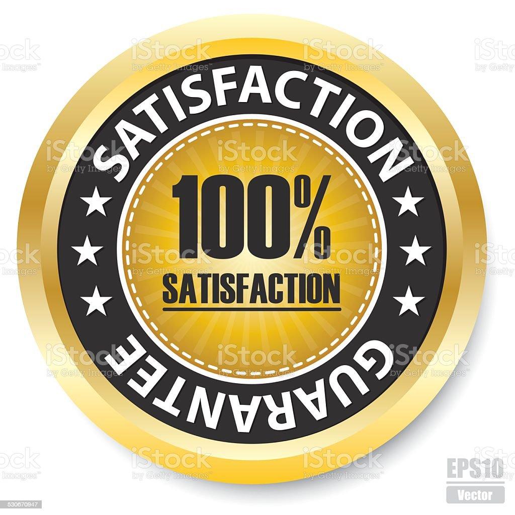 Vector : 100% Satisfaction Guarantee Label.Eps10 royalty-free stock vector art