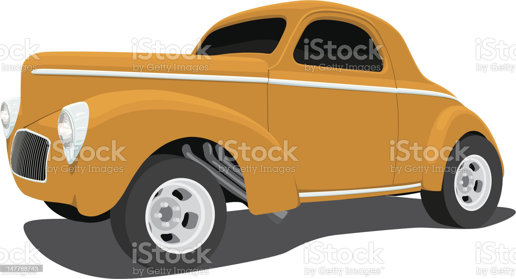Vector 1941 Willys Coupe hot rod royalty-free stock vector art
