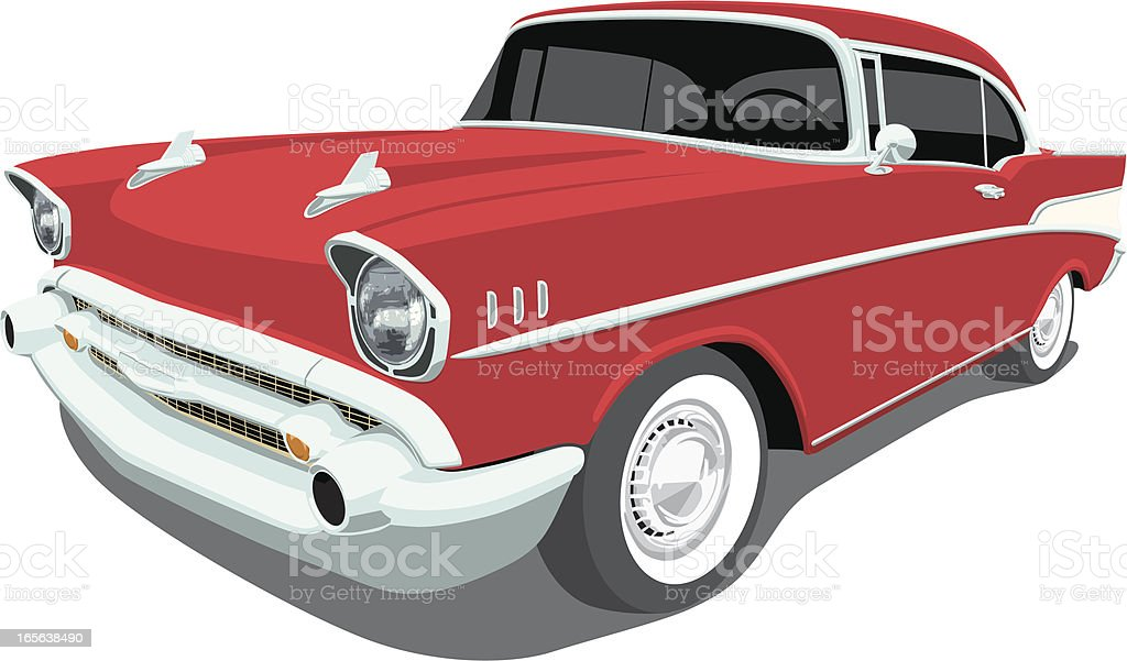 Vector 1957 Chevrolet Bel Air - Angle View vector art illustration