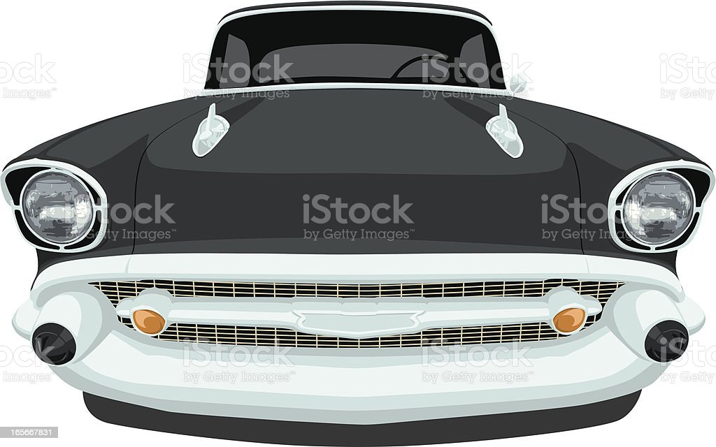 Vector 1957 Chevrolet Bel Air - Front View vector art illustration