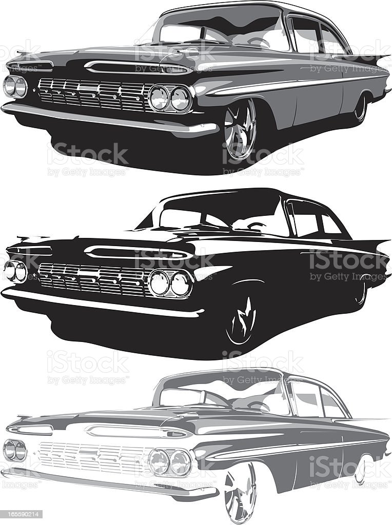 Vector 1959 Impala vector art illustration