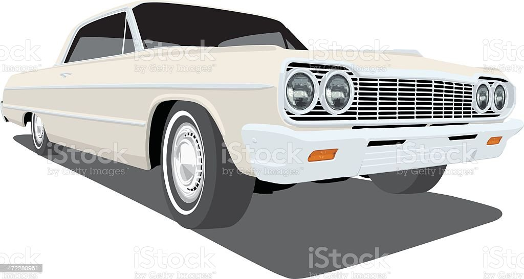 Vector 1964 Chevrolet Impala vector art illustration
