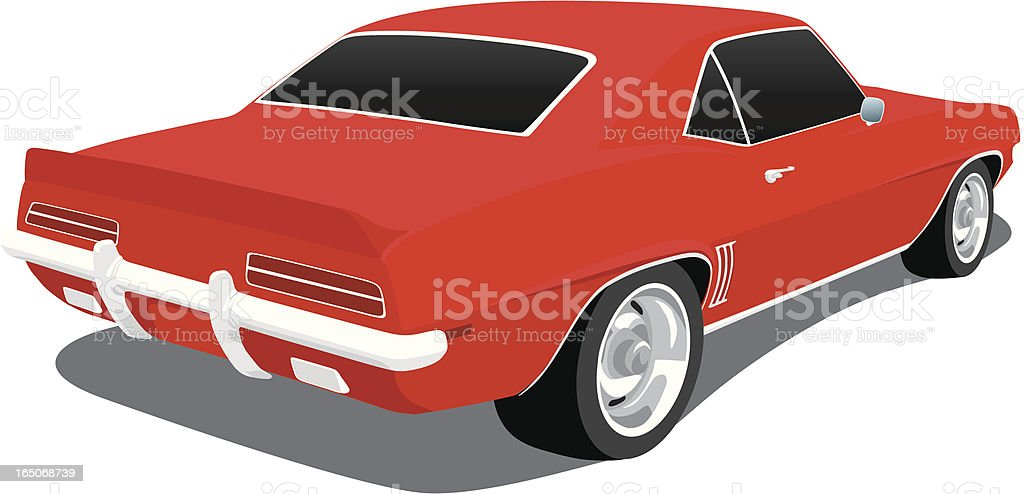 Vector 1969 Camaro royalty-free stock vector art
