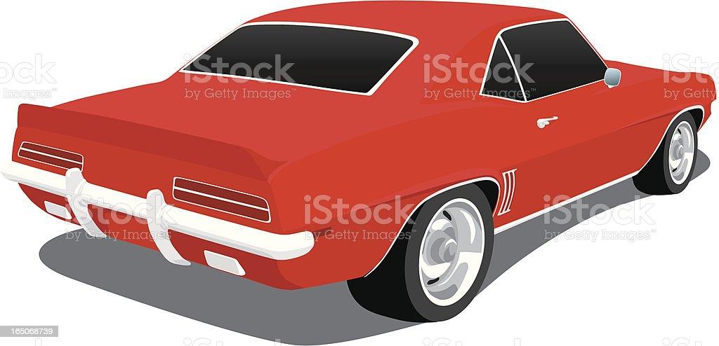 Vector 1969 Camaro vector art illustration