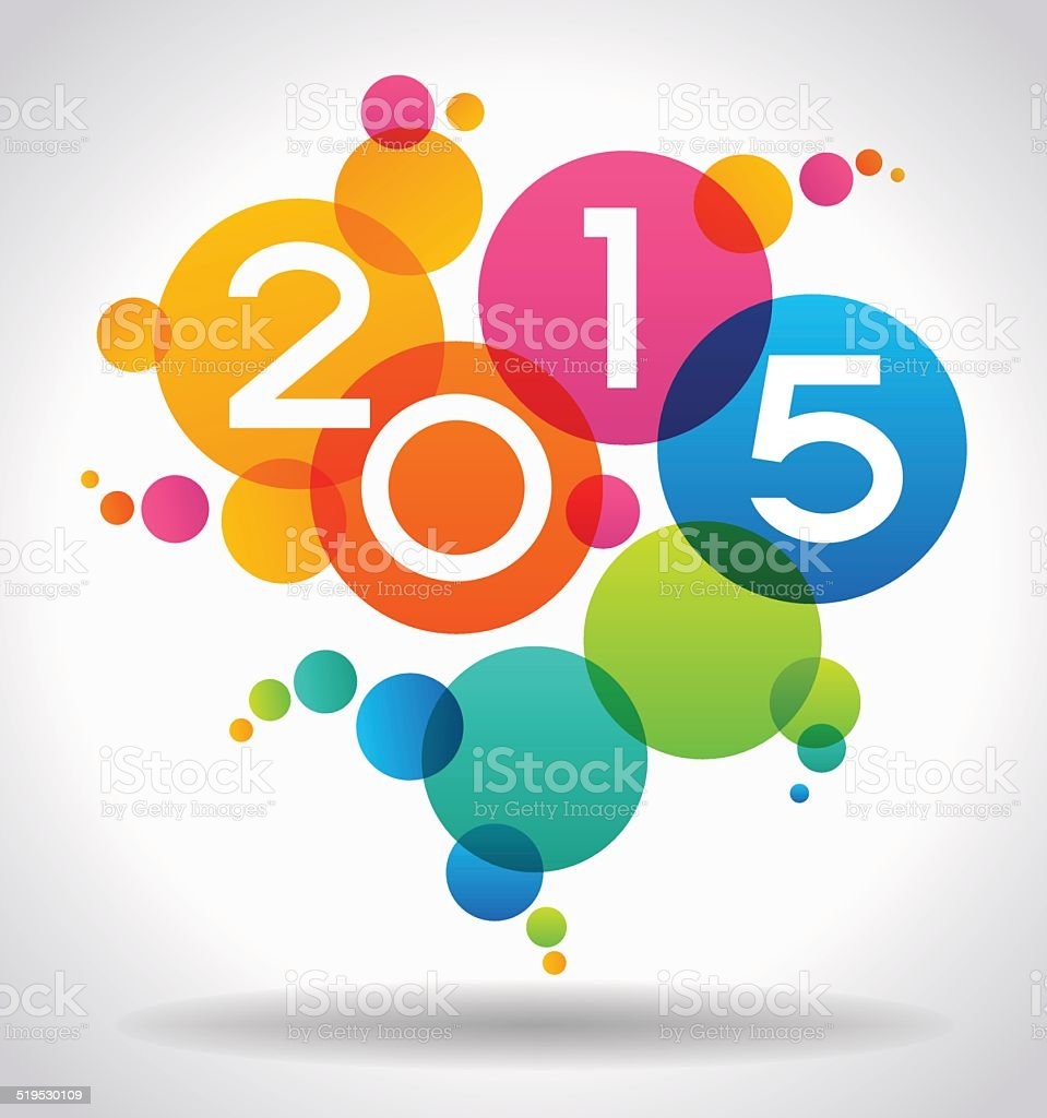 Vector 2015 Happy New Year background vector art illustration