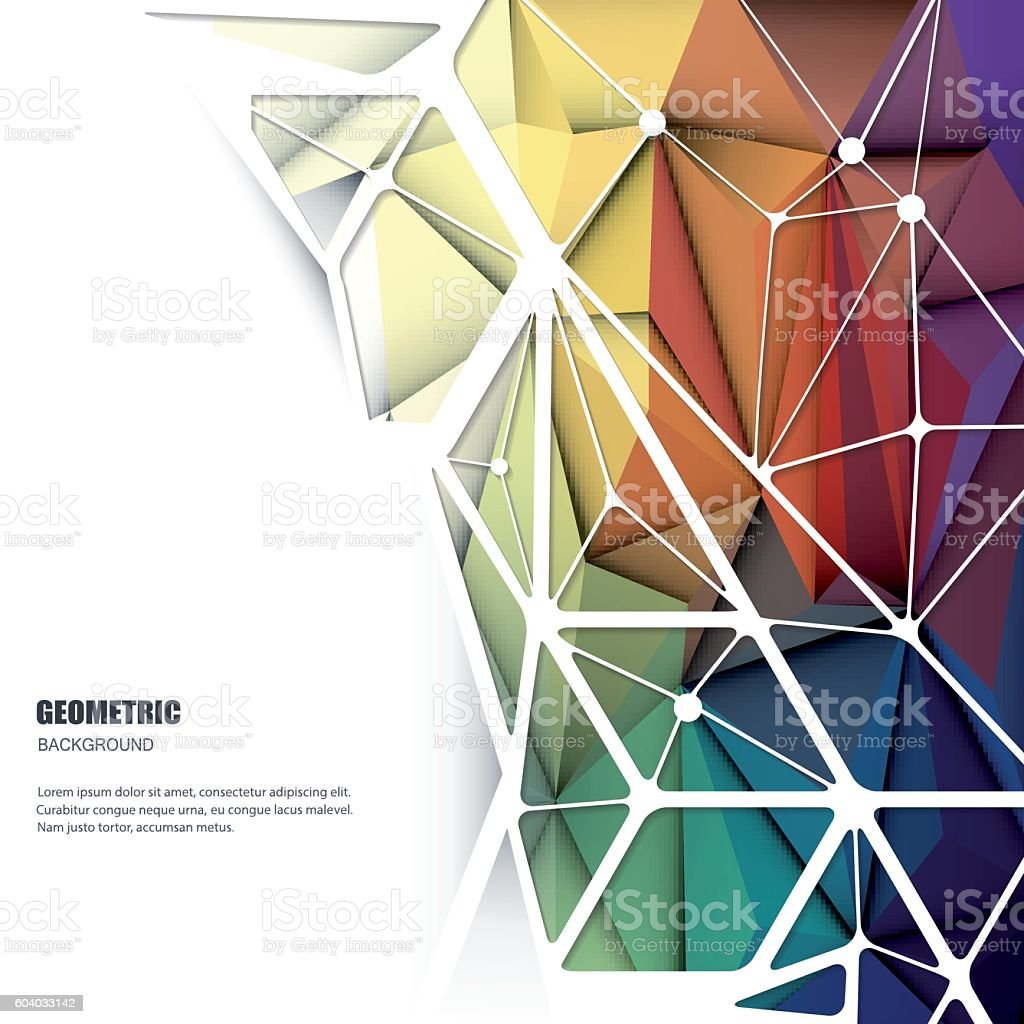 Vector 3D Geometric, Polygonal, Triangle pattern shape vector art illustration
