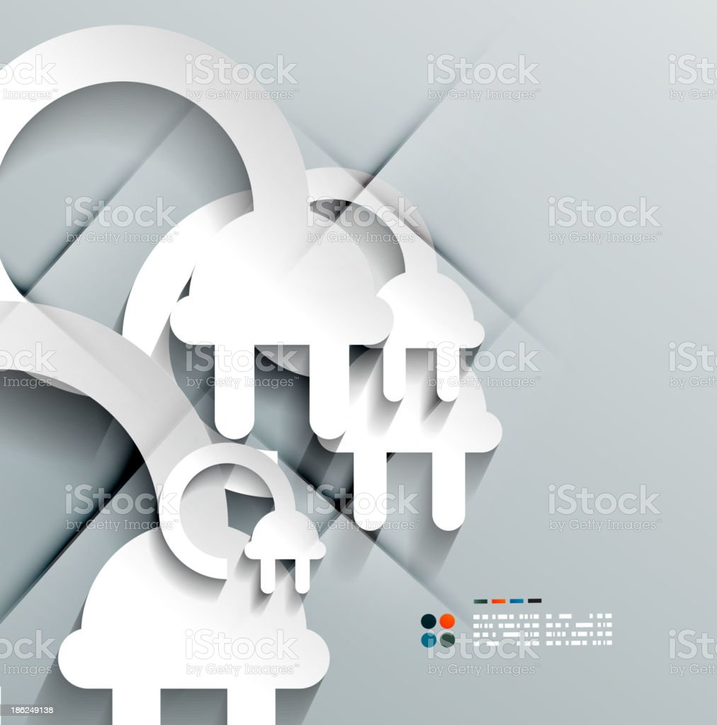 Vector 3d paper plug modern design royalty-free stock vector art